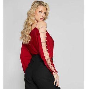 (NEW) Marciano Roaring Red Crystal Top